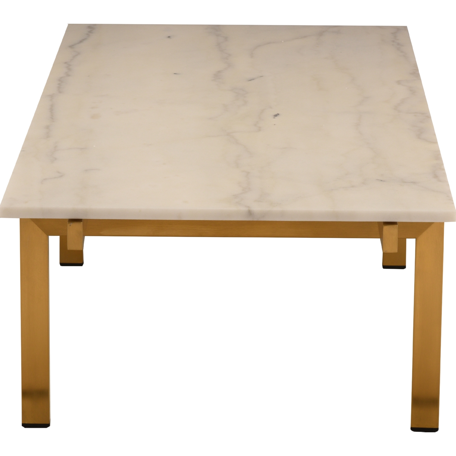nuevo modern furniture hgna107 louve coffee table w white marble