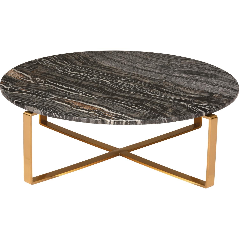 Marble Coffee Table Wood Legs: Nuevo HGNA355 Rosa Coffee Table W/ Black Wood Vein Marble