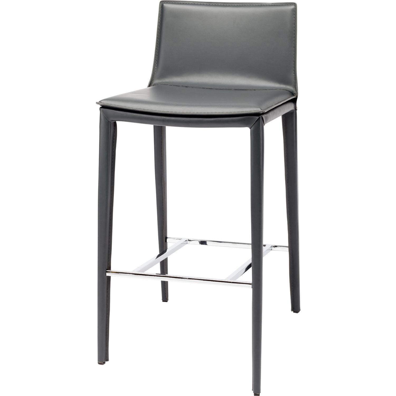 Nuevo Modern Furniture HGND105 Palma Bar Stool in Grey Leather : HGND105 HR from www.dynamichomedecor.com size 1500 x 1500 jpeg 91kB