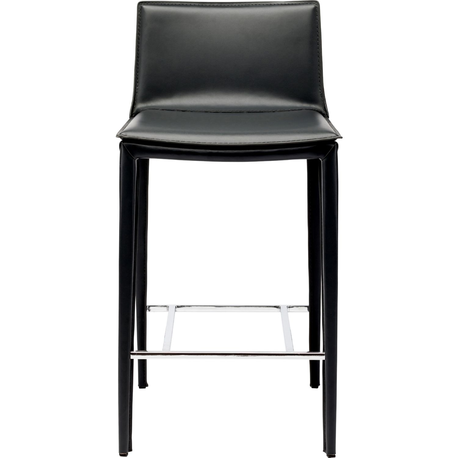 Nuevo Modern Furniture HGND112 Palma Counter Stool in Black Leather