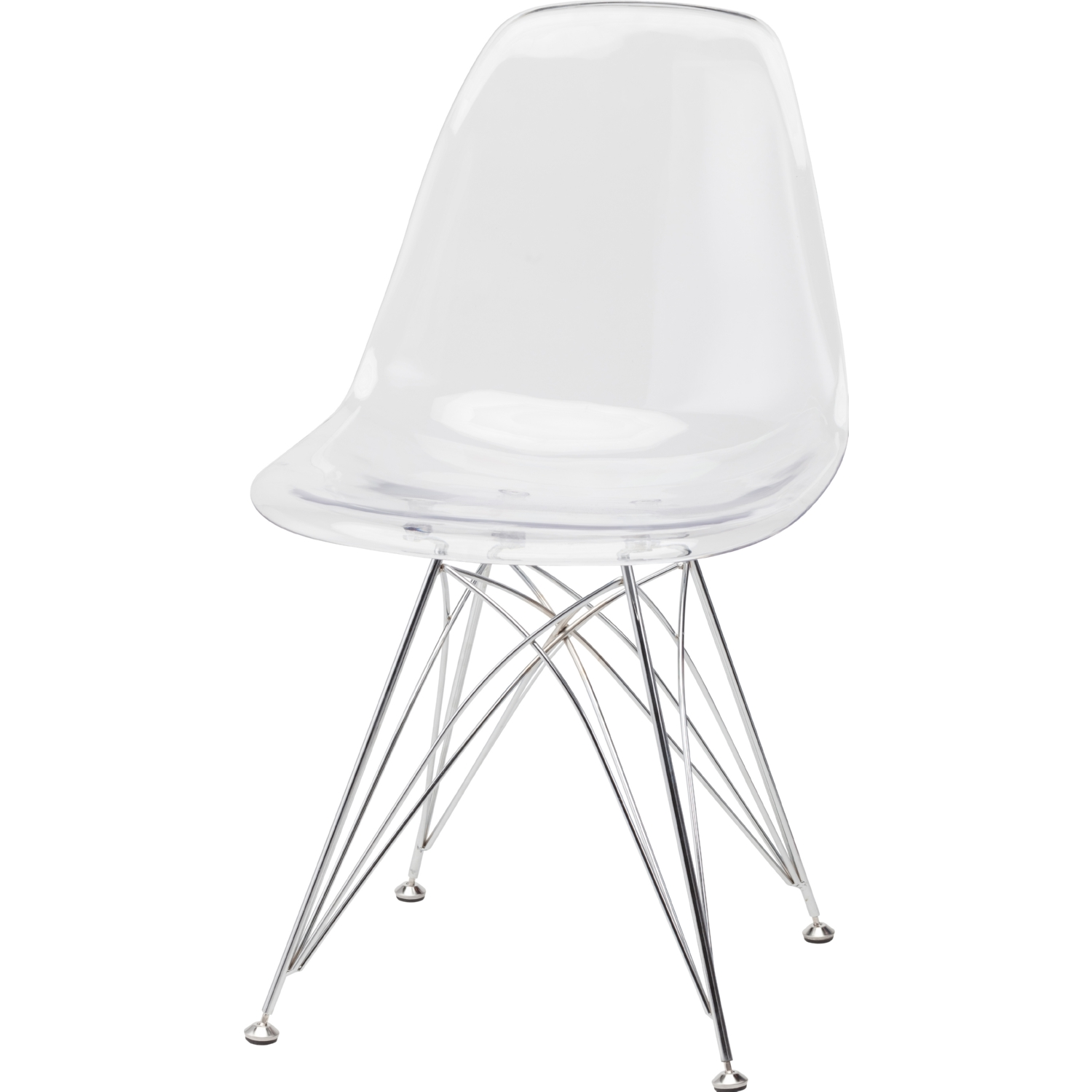 Nuevo Modern Furniture HGQM148 Stylus Dining Chair w Clear Seat