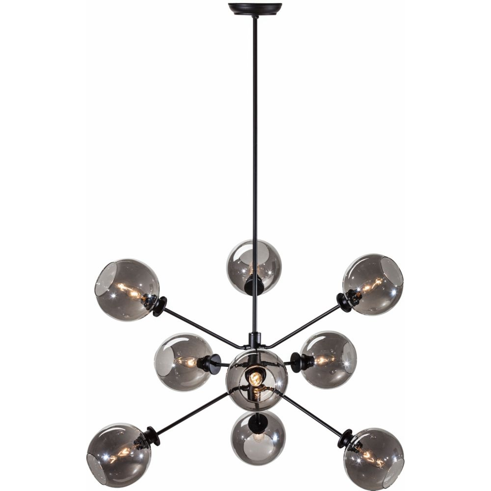 nuevo modern furniture hgra154 atom pendant lamp w 9 round grey