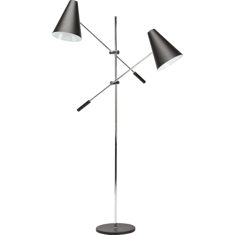 Nuevo modern furniture hgra390 tivat 2 light floor lamp in black nuevo modern furniture hgra390 tivat 2 light floor lamp in black metal chrome aloadofball Image collections