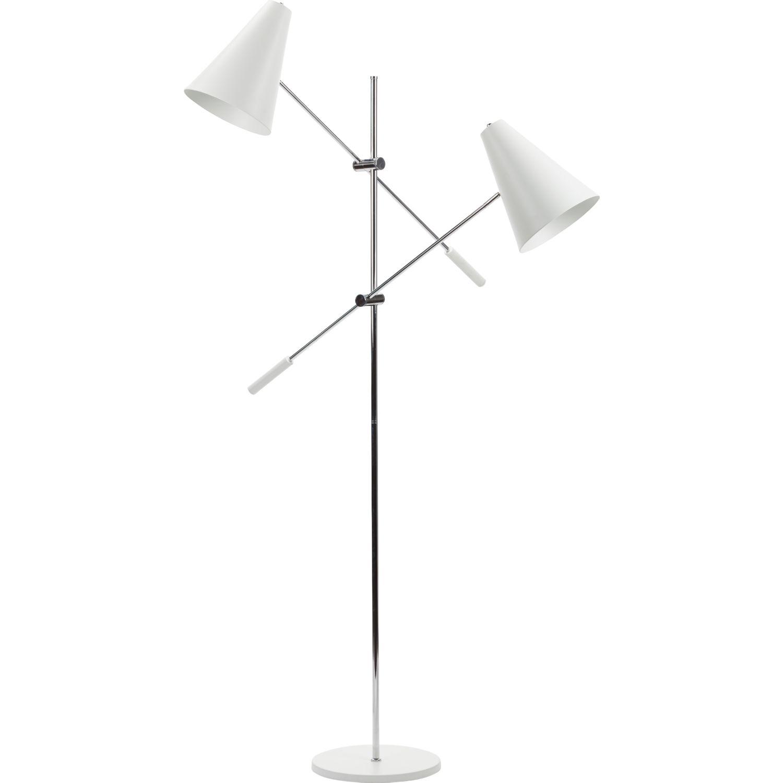 Nuevo modern furniture hgra391 tivat 2 light floor lamp in white nuevo modern furniture hgra391 tivat 2 light floor lamp in white metal chrome aloadofball Image collections