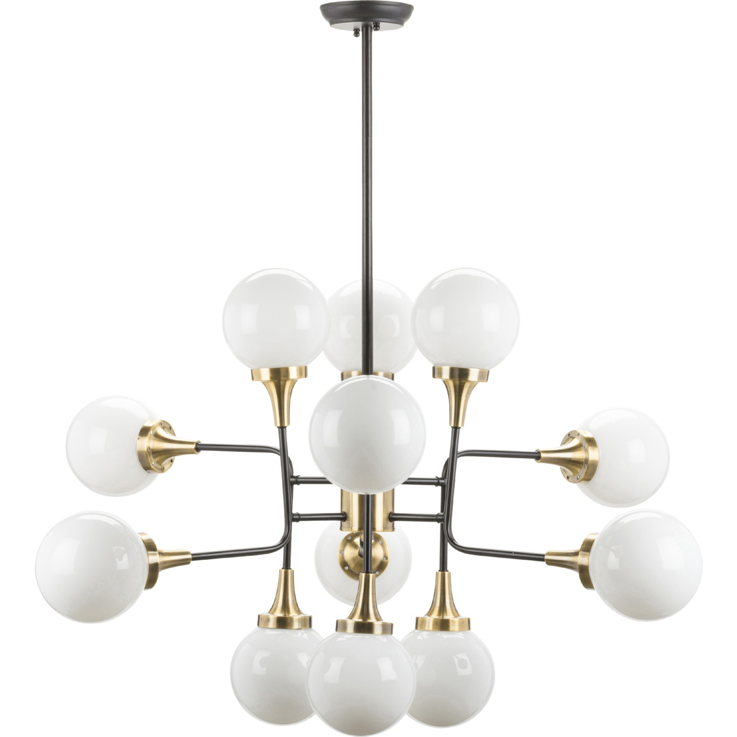 nuevo modern furniture hgra bella pendant lighting in opal  - bella pendant lighting in opal glass  antique brass