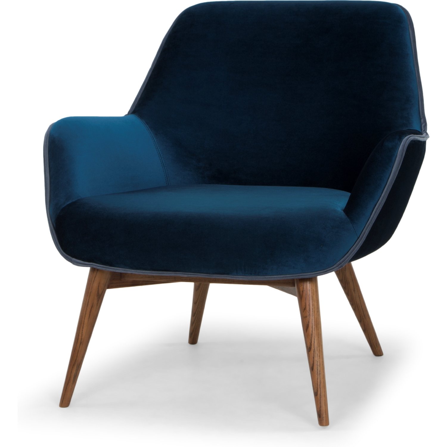 Marvelous Nuevo Modern Furniture HGSC175 Gretchen Accent Chair In Midnight Blue  Fabric W/ Dust Blue Piping