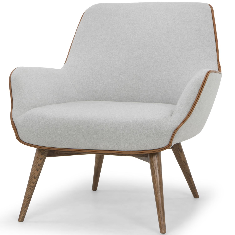 Nuevo Modern Furniture HGSC177 Gretchen Accent Chair in Stone Grey