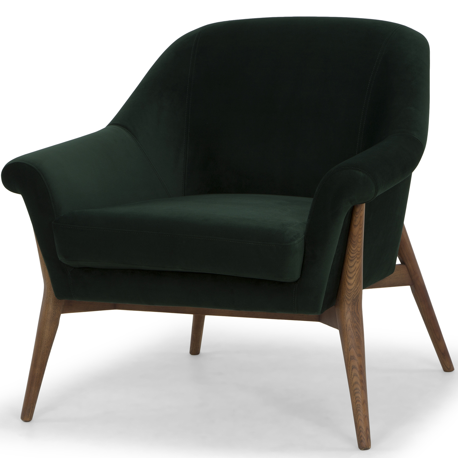 Peachy Charlize Accent Chair In Emerald Green Fabric On Wood Legs By Nuevo Modern Furniture Ibusinesslaw Wood Chair Design Ideas Ibusinesslaworg