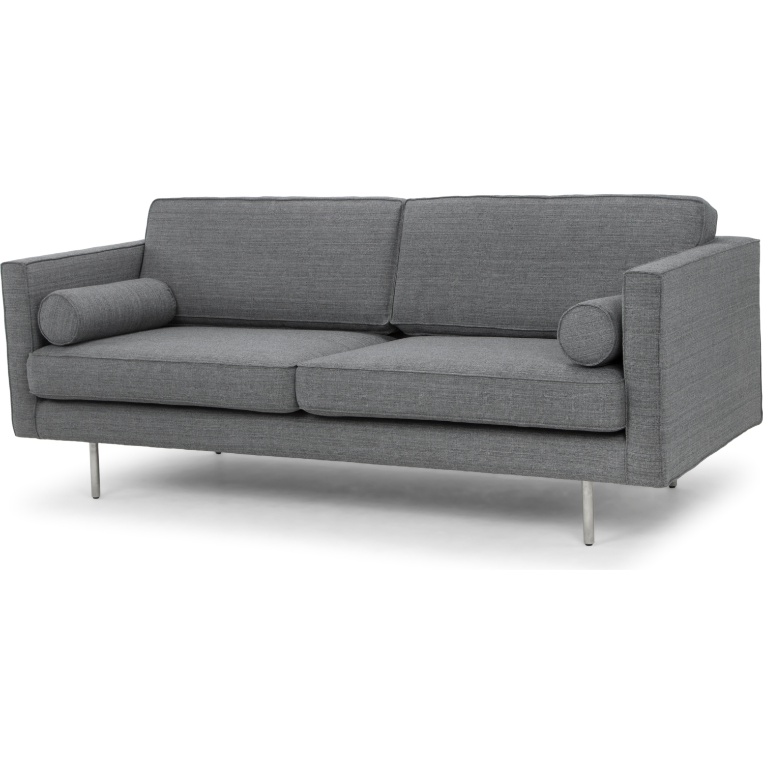 Brilliant Cyrus Sofa In Grey Tweed Fabric On Brushed Stainless Legs By Nuevo Modern Furniture Machost Co Dining Chair Design Ideas Machostcouk