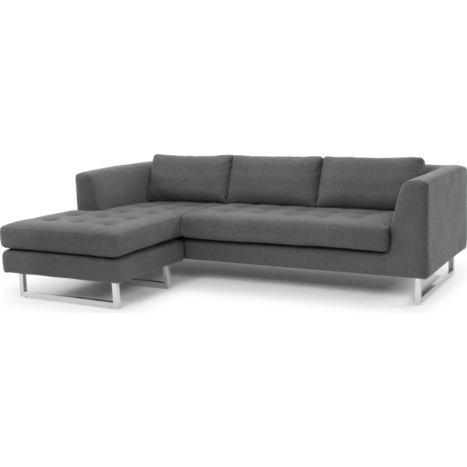 Nuevo modern furniture hgsc197 matthew sectional sofa in for Shale sofa bed