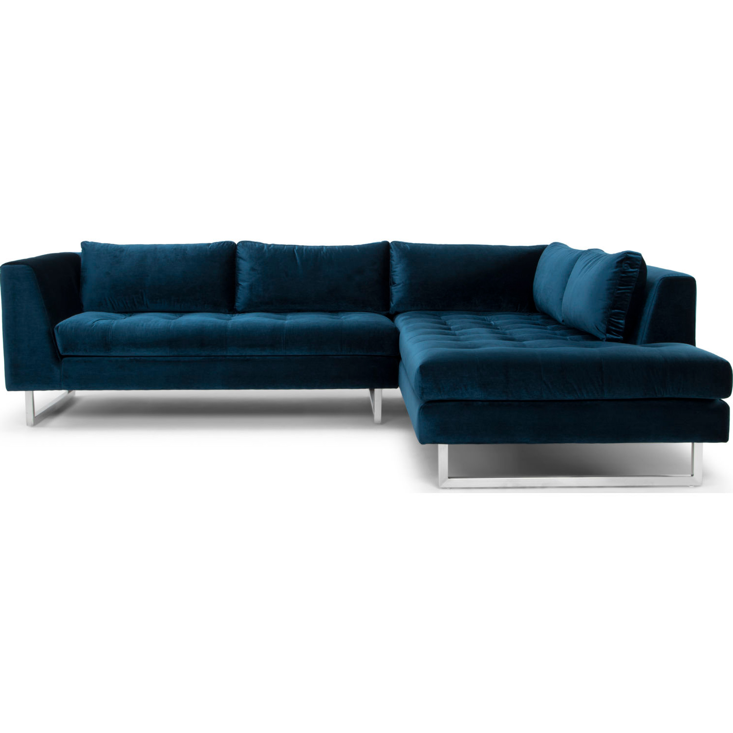 Enjoyable Janis Sectional Sofa W Right Hand Chaise In Midnight Blue Fabric By Nuevo Modern Furniture Short Links Chair Design For Home Short Linksinfo