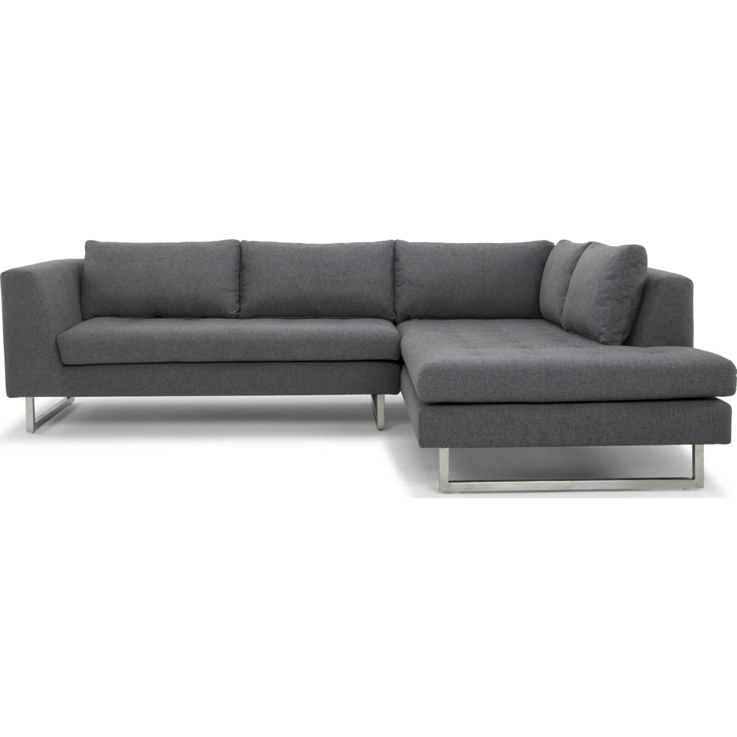 Superb Janis Sectional Sofa W Right Hand Chaise In Shale Grey Fabric By Nuevo Modern Furniture Short Links Chair Design For Home Short Linksinfo
