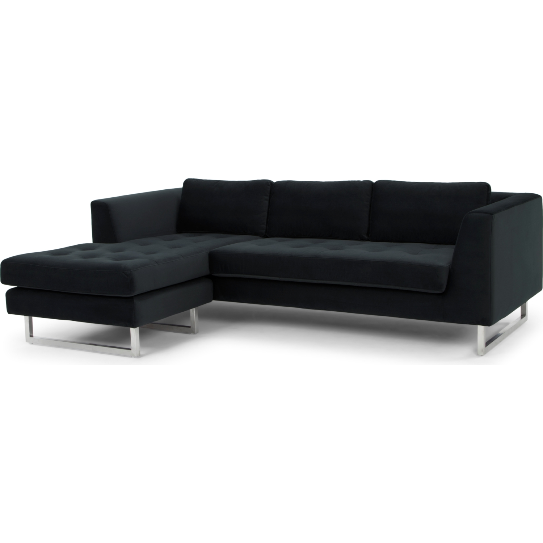 Nuevo Modern Furniture HGSC273 Matthew Sectional Sofa in Shadow