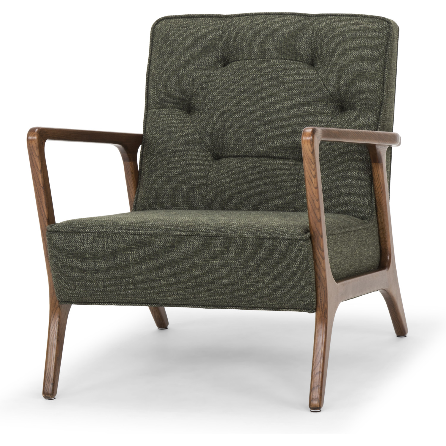 Picture of: Nuevo Hgsc281 Eloise Accent Chair In Tufted Hunter Green Tweed Fabric On Walnut Finish Ash