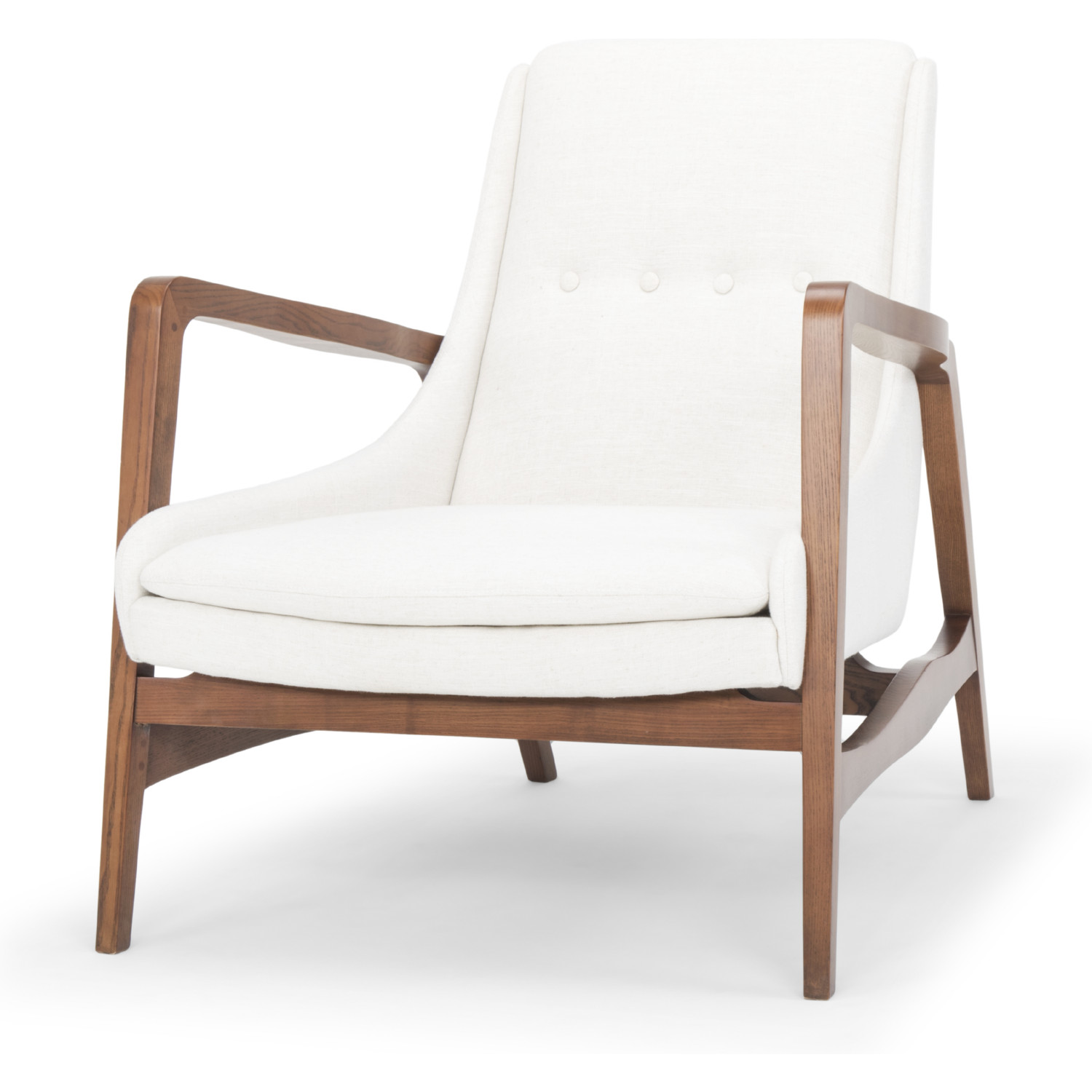 Terrific Enzo Accent Chair In Flax Fabric On Walnut Finish Ash Frame By Nuevo Modern Furniture Squirreltailoven Fun Painted Chair Ideas Images Squirreltailovenorg