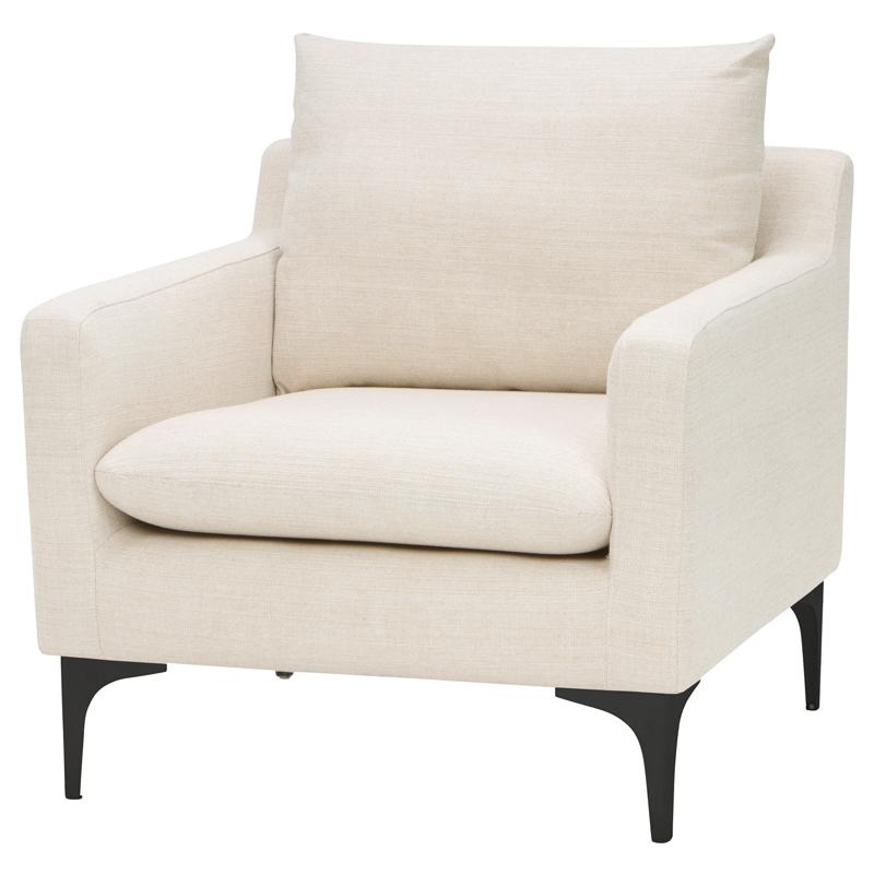 Strange Anders Accent Chair In Sand Fabric On Black Steel By Nuevo Modern Furniture Uwap Interior Chair Design Uwaporg