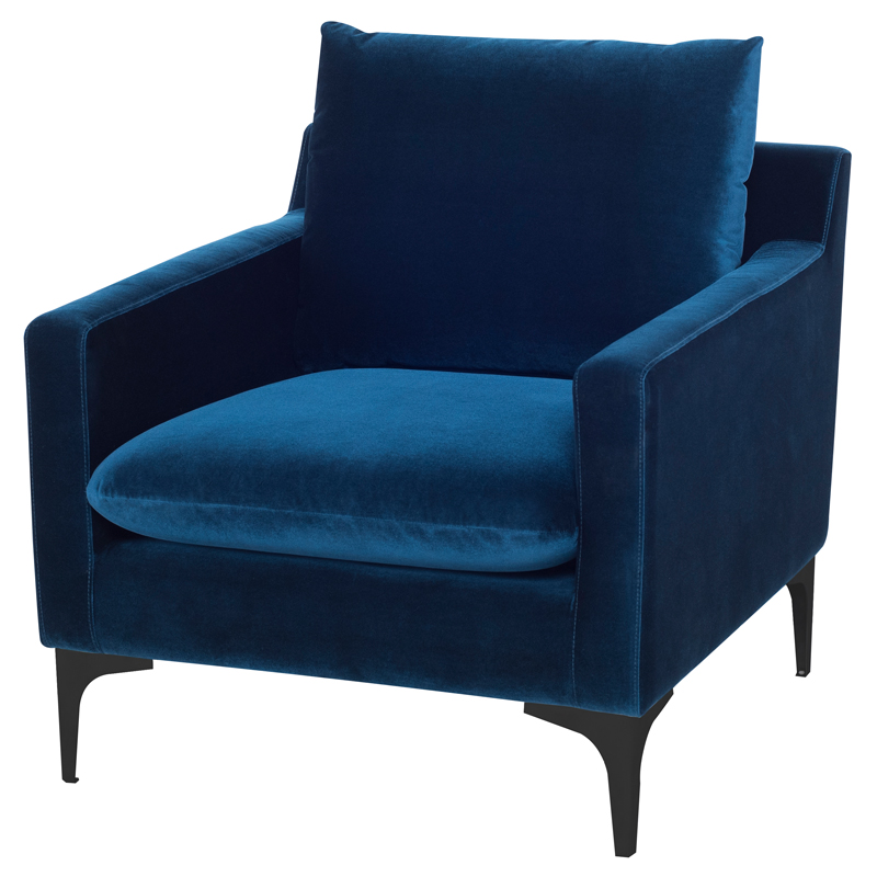 Awe Inspiring Anders Accent Chair In Midnight Blue Fabric On Black Steel By Nuevo Modern Furniture Uwap Interior Chair Design Uwaporg