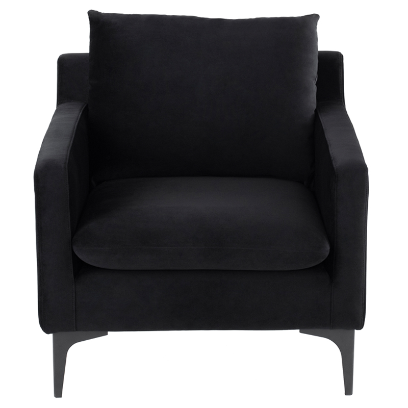 Groovy Anders Accent Chair In Black Fabric On Black Steel By Nuevo Modern Furniture Uwap Interior Chair Design Uwaporg