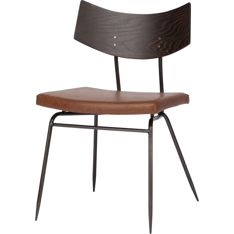 nuevo modern furniture hgsr soli dining chair in caramel  - nuevo modern furniture soli dining chair in caramel leather on seared oak