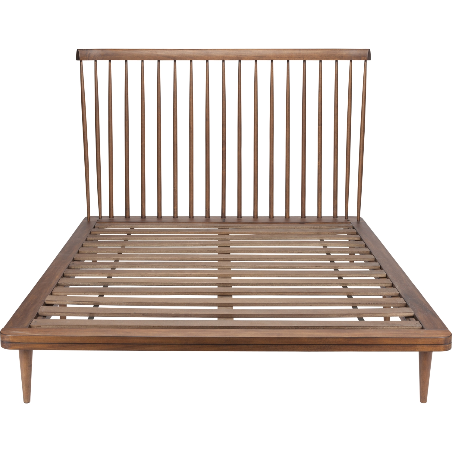 Picture of: Nuevo Hgst107 Jessika Queen Bed In Walnut Stain W Spindle Headboard