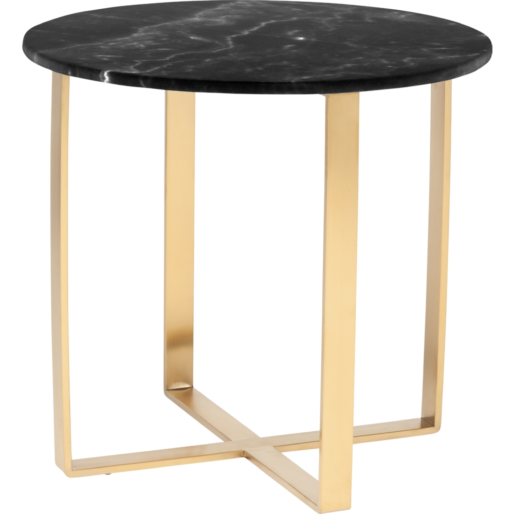 Nuevo Aurora Gold Coffee Table: Nuevo HGSX150 Rosa Side Table W/ Brushed Gold Stainless