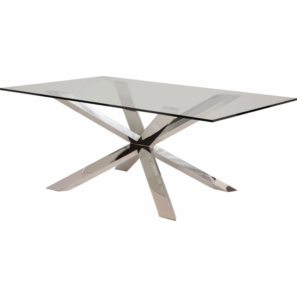 """Diamond Sofa Dining Table Nuevo Modern Furniture HGSX158 Couture 95"""" Dining Table w/ Glass Top ..."""