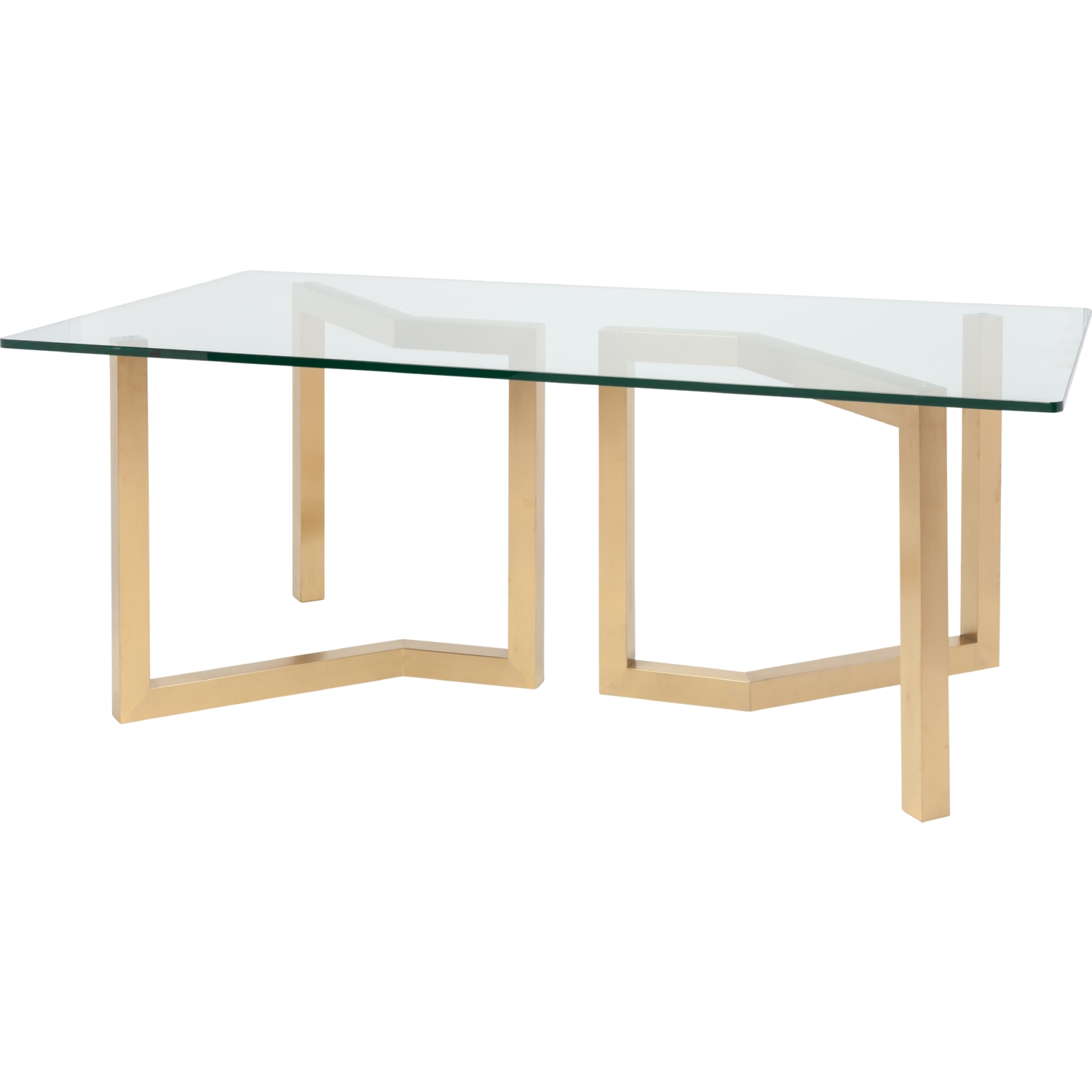 Nuevo Hgsx170 Paula 78 Quot Dining Table W Brushed Gold