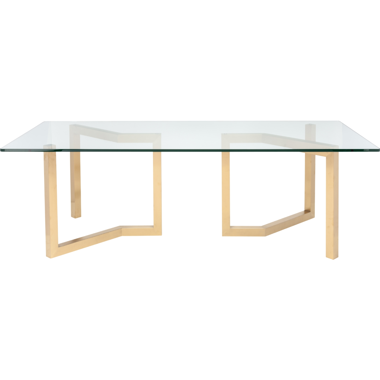 "Nuevo Modern Furniture HGSX172 Paula 94"" Dining Table w Brushed"