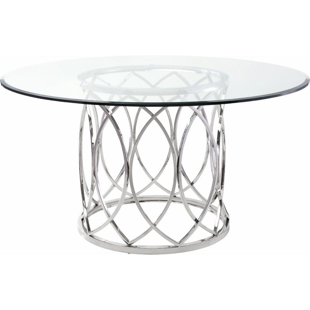 "Nuevo HGTB236 Juliette 59"" Round Dining Table W/ Geometric"