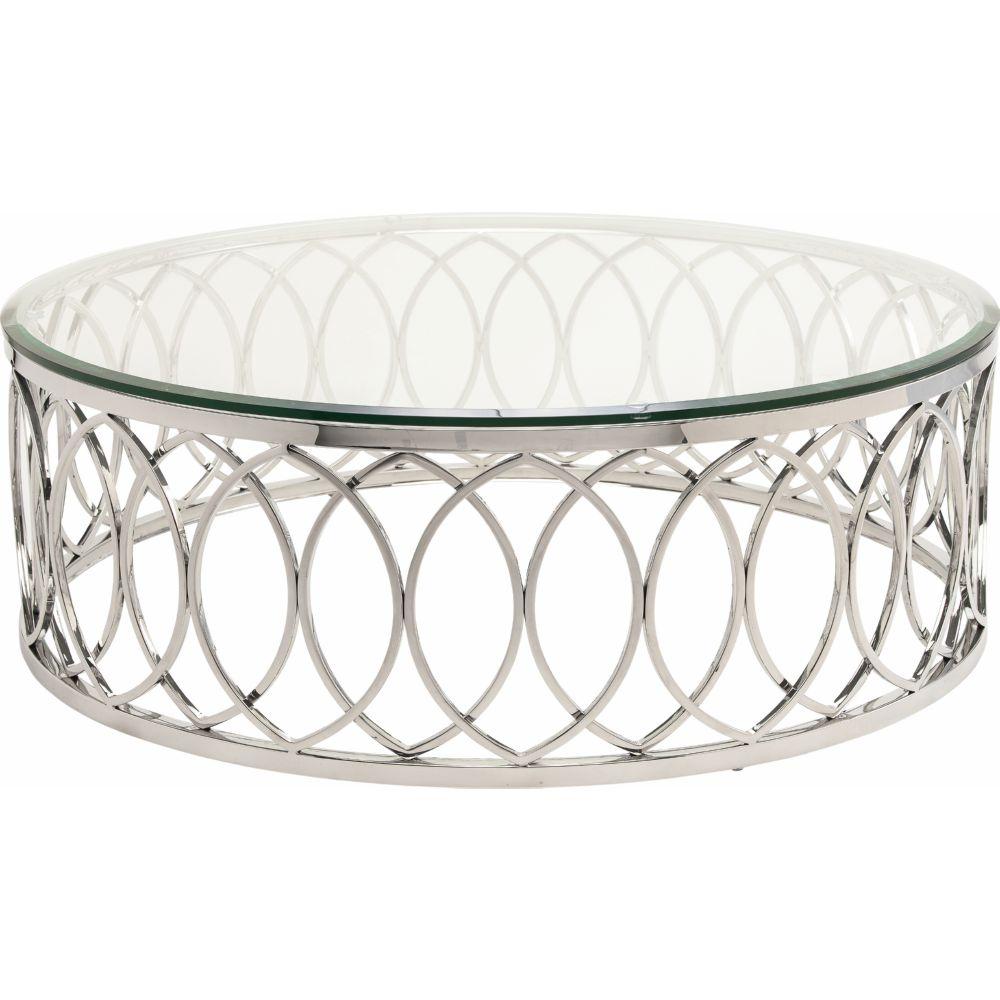 "Nuevo HGTB237 Juliette 40"" Round Coffee Table W/ Geometric"