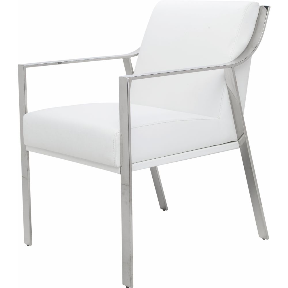 Nuevo Modern Furniture HGTB246 Valentine Dining Chair w Polished – Metal Frame Dining Chairs