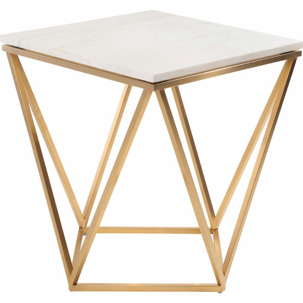 Best Nuevo Modern Furniture HGTB263 Jasmine Side Table w/ White Marble  VV25