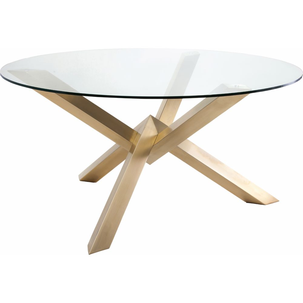 "Nuevo Modern Furniture HGTB271 Costa 59"" Round Dining Table w"