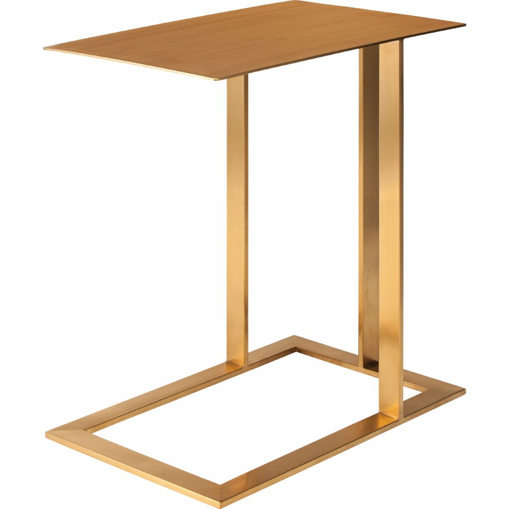 Nuevo Aurora Gold Coffee Table: Nuevo HGTB273 Celine Side Table In Gold Polished Stainless