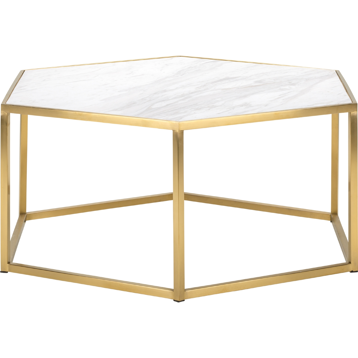 nuevo modern furniture hgtb425 hexion coffee table w white marble
