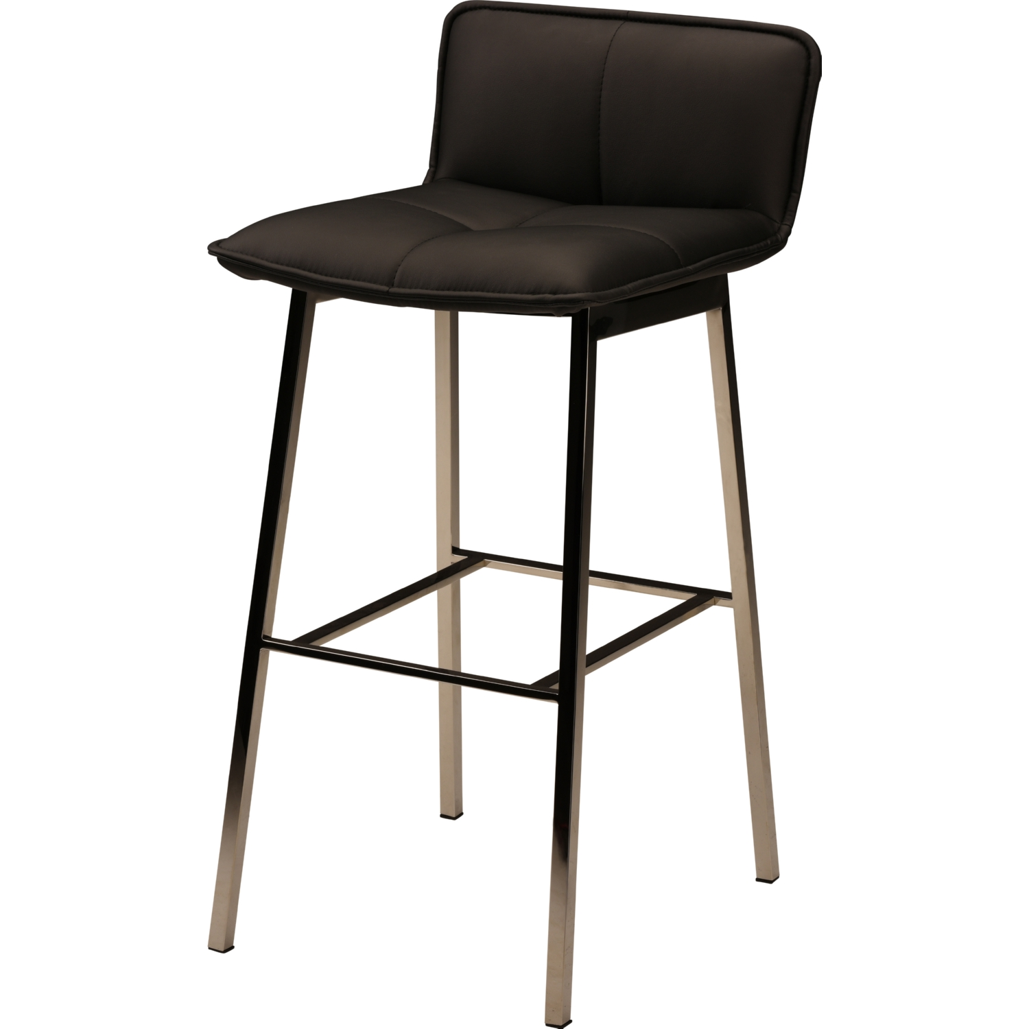 Marvelous Sabrina Counter Stool In Black Naugahyde On Polished Silver Stainless Base By Nuevo Modern Furniture Alphanode Cool Chair Designs And Ideas Alphanodeonline