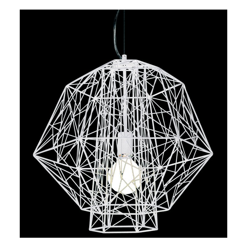 Nuevo modern furniture hgvf256 zeus pendant light in white mozeypictures Gallery