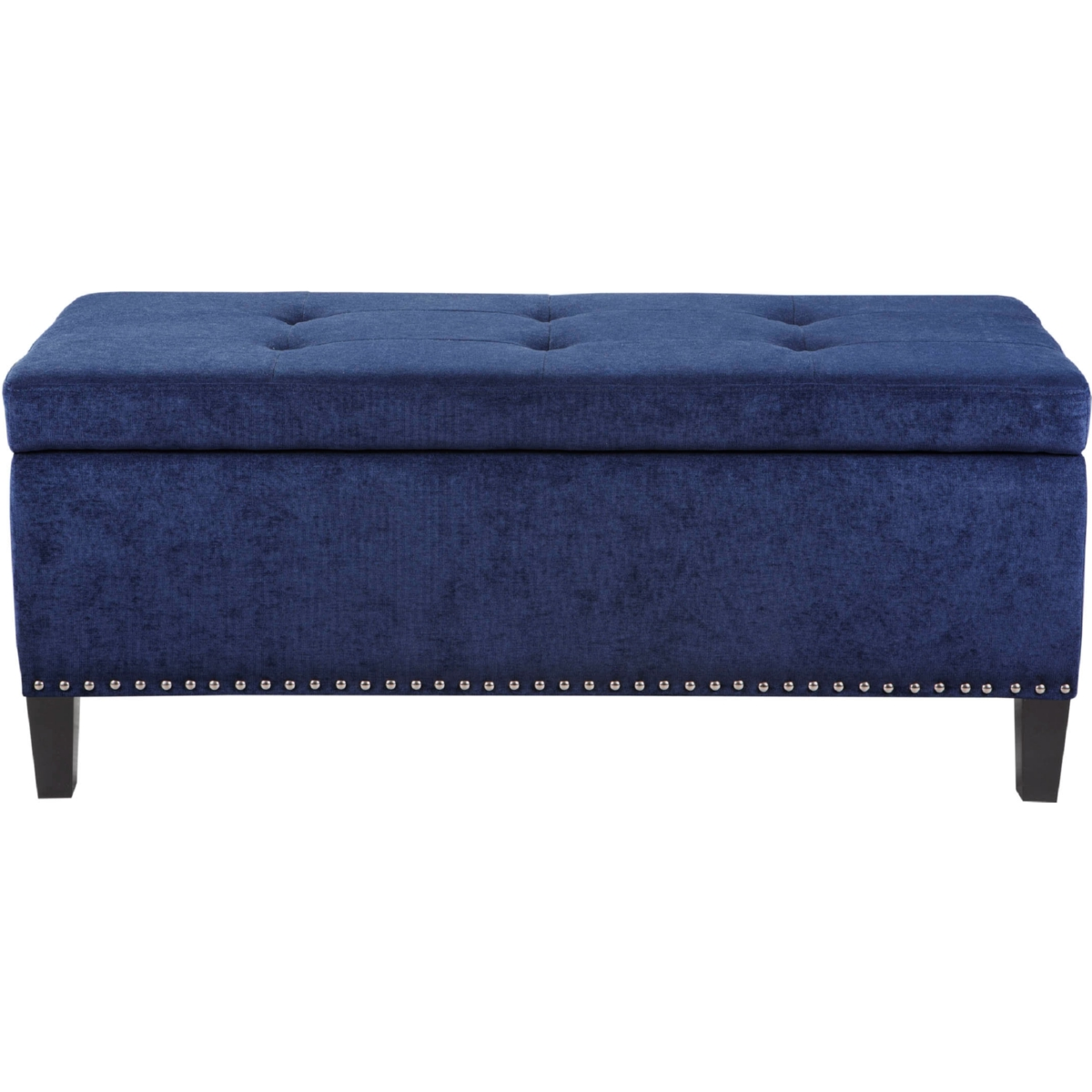 Excellent Shandra Ii Tufted Top Storage Bench In Royal Blue Fabric On Black Legs By Madison Park Pdpeps Interior Chair Design Pdpepsorg