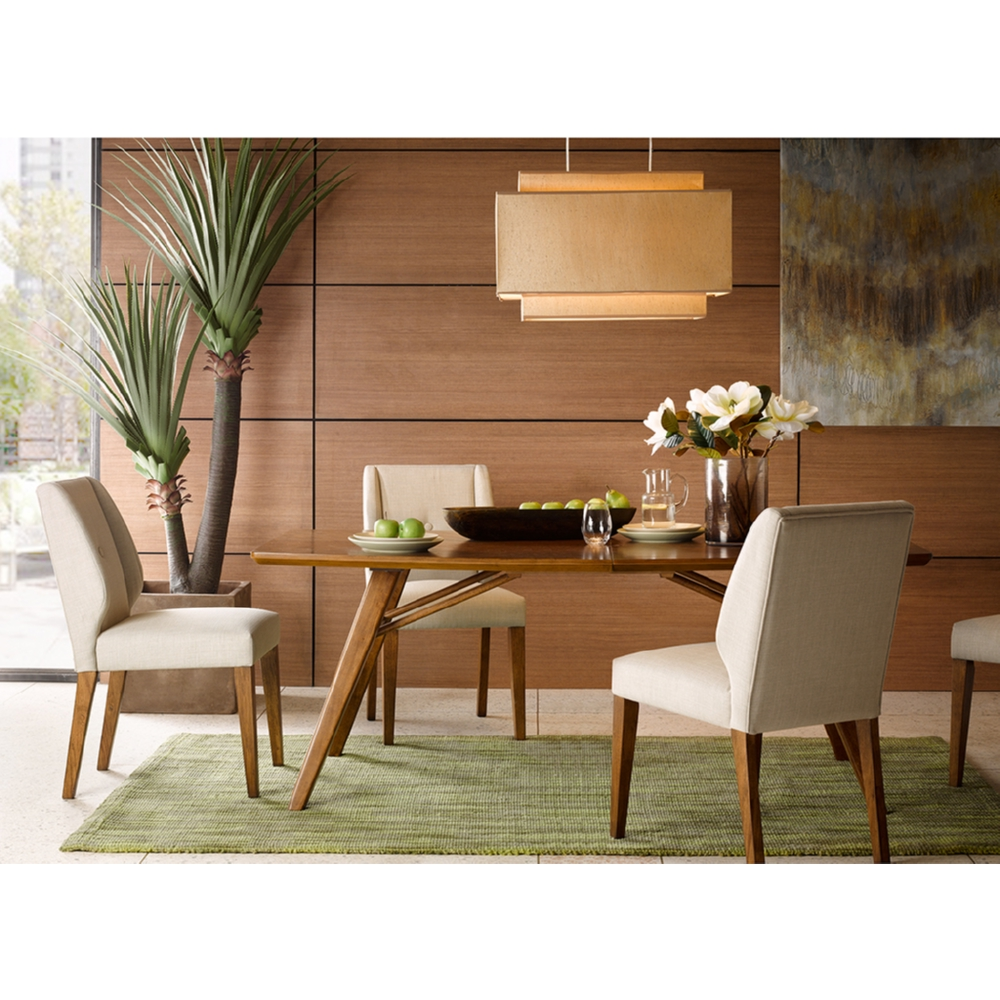 Wynn 78 Dining Table In Pecan Finish