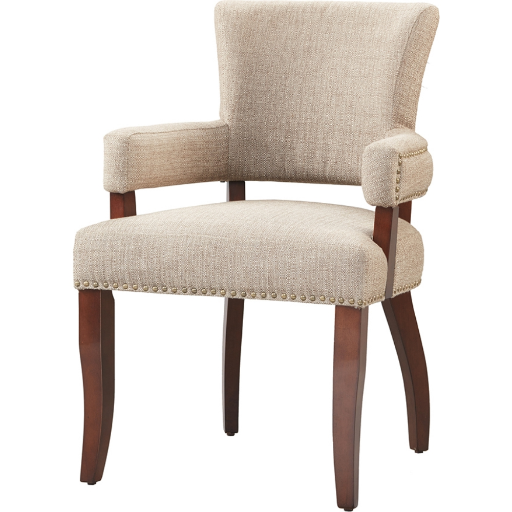 Peachy Dawson Arm Dining Chair In Windham Tweed Fabric On Espresso Legs By Madison Park Lamtechconsult Wood Chair Design Ideas Lamtechconsultcom