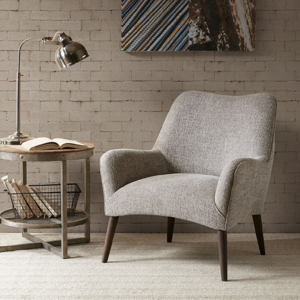 Enjoyable Danielle Accent Chair In Tan Fabric On Burnt Walnut Legs By Ink Ivy Ncnpc Chair Design For Home Ncnpcorg