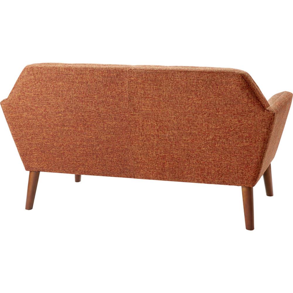 Ink Ivy Ii106 0206 Newport Loveseat In Tufted Orange Fabric On Wood Legs