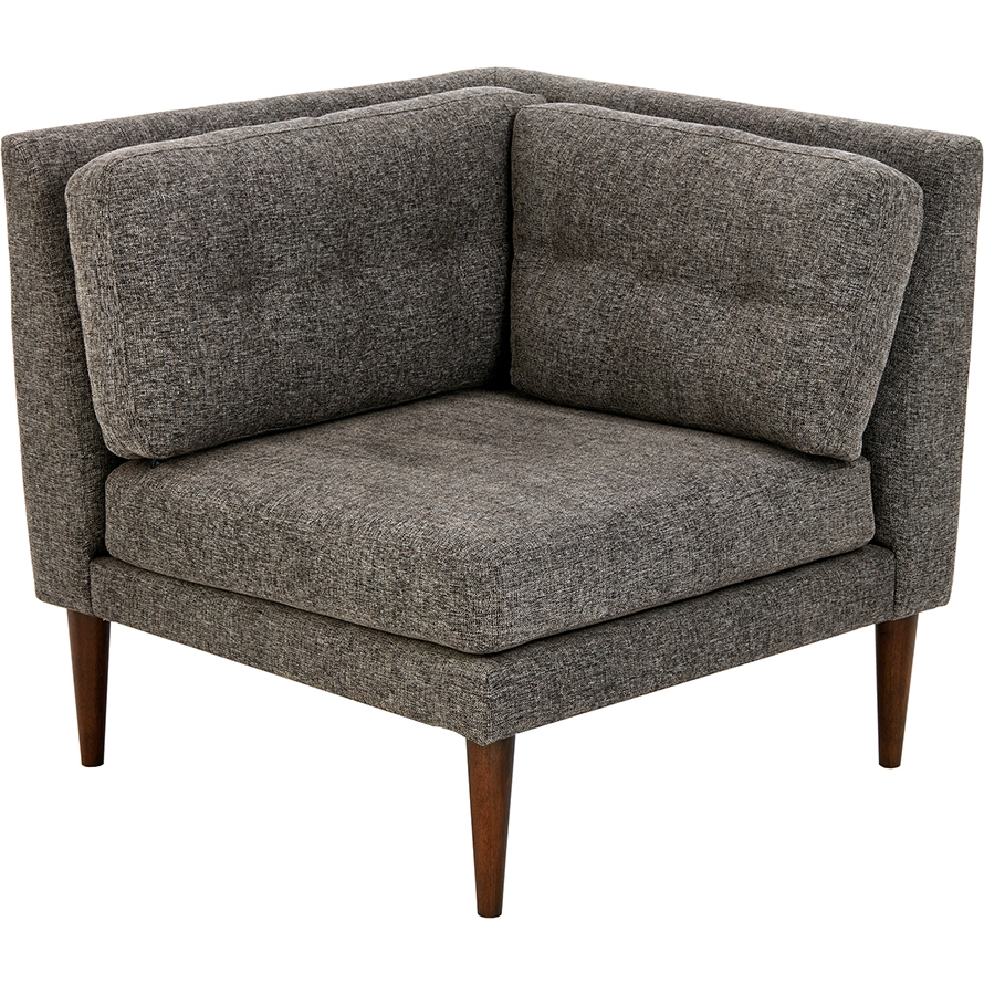 Miraculous Auburn Corner Chair Sectional Sofa Unit In Multicolor Grey Fabric By Ink Ivy Evergreenethics Interior Chair Design Evergreenethicsorg