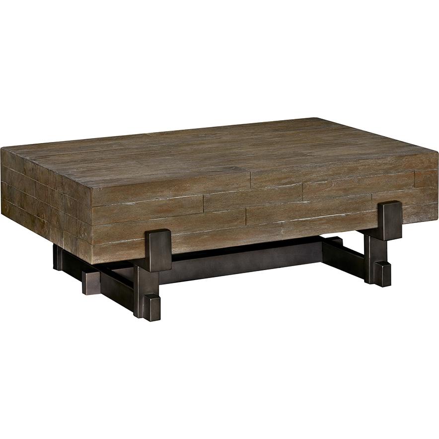 Ink + Ivy II120 0134 Timber Coffee Table W/ Distressed Reclaimed Wood Top  On Gunmetal Legs
