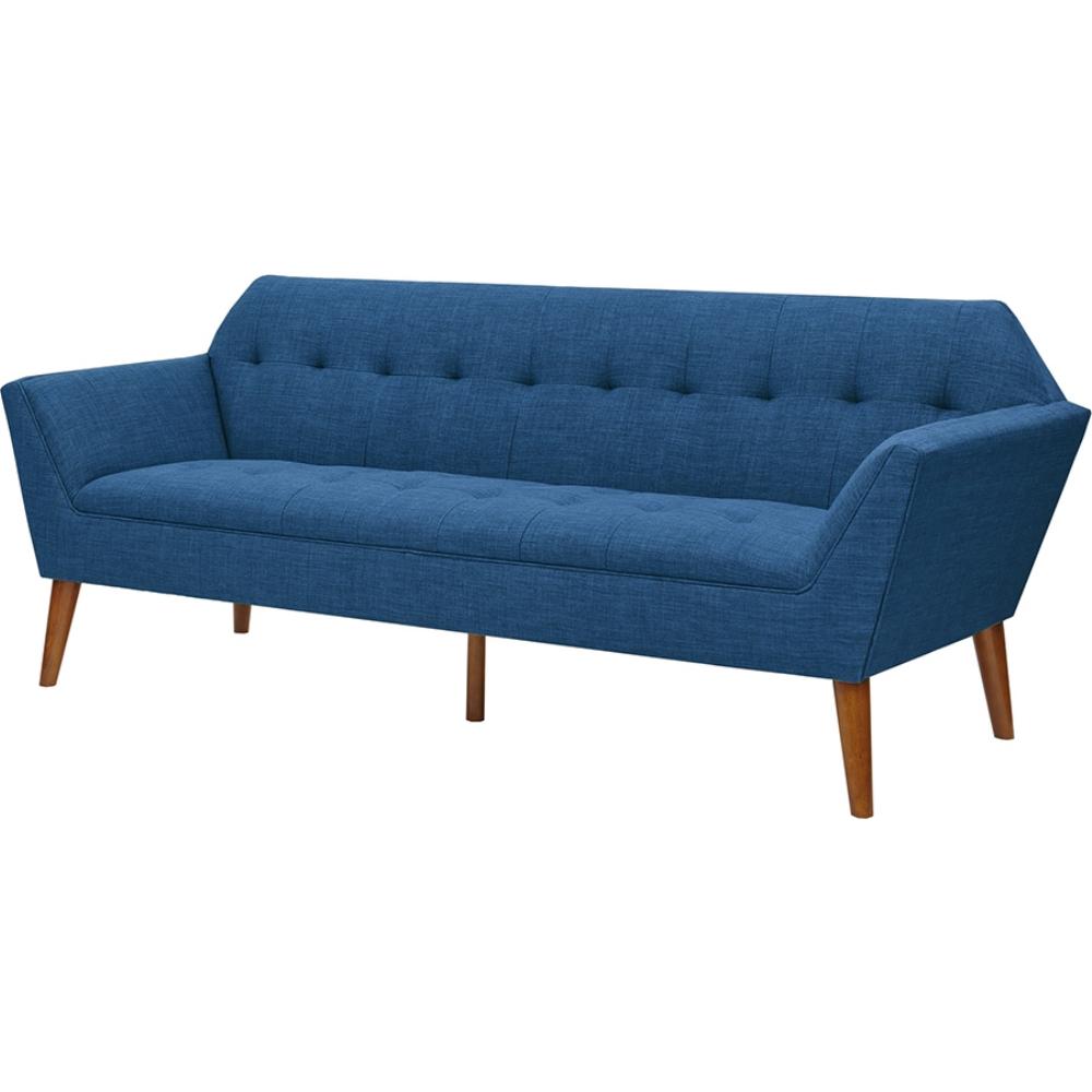 Sofa Fabric In Jaipur: Ink + Ivy IIF18-0096 Newport Sofa In Tufted Navy Fabric On