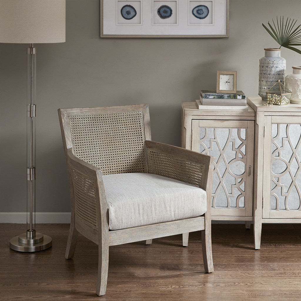 Brilliant Diedra Accent Chair In Reclaimed Wood Rattan By Madison Park Gmtry Best Dining Table And Chair Ideas Images Gmtryco