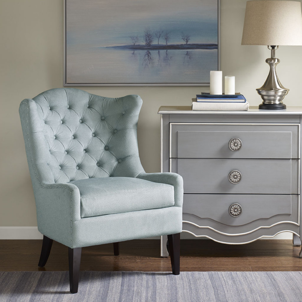 Madison Park Mp100 0437 Montini Accent Chair In Tufted