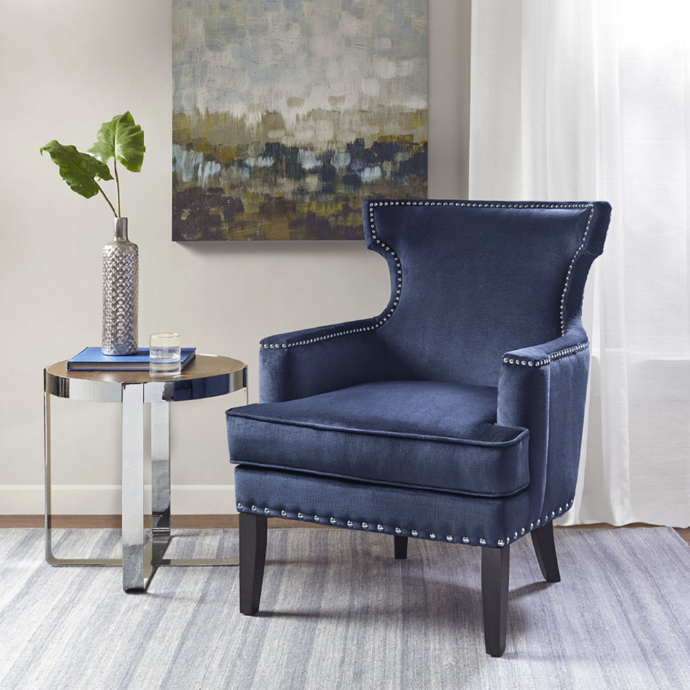 Madison Park Mp100 0442 Seraphina Accent Chair In Blue