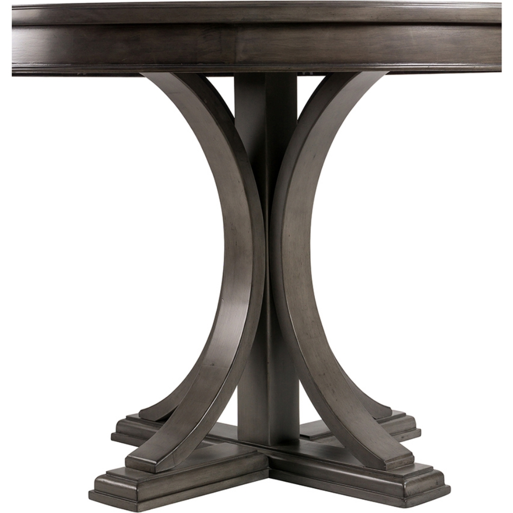 Helena 45 Round Dining Table In Reclaimed Gray Wood Finish By Madison Park Signature