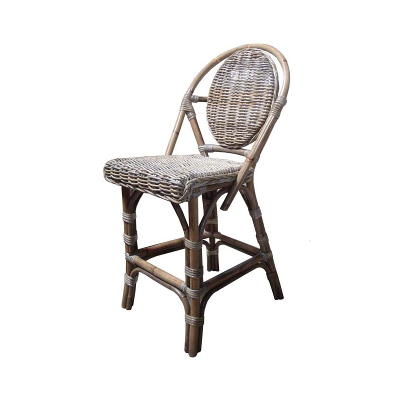 Marvelous Paris Bistro Kubu Counter Stool In Rattan W Kubu Wicker Seat Back By Padmas Plantation Squirreltailoven Fun Painted Chair Ideas Images Squirreltailovenorg